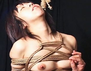 Japanese bondage babe  the violent master binds and suspends his firm young slave. The massive master binds and suspends his firm young slave